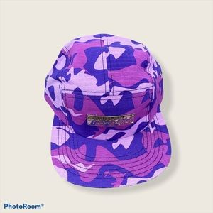NWOT Pink dolphin multi purple camouflage hat